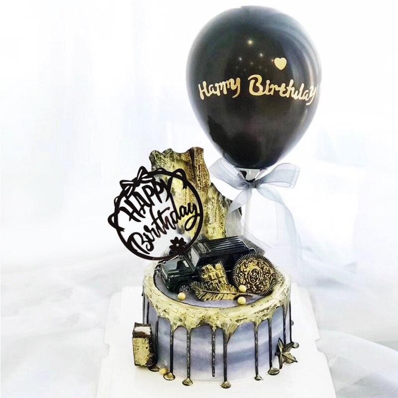 Décoration de gâteau danniversaire pour enfants et filles, décoration de gâteau danniversaire, réceptionniste pour bébé, couleur rose or décoration de gâteaux, nouvelle collection