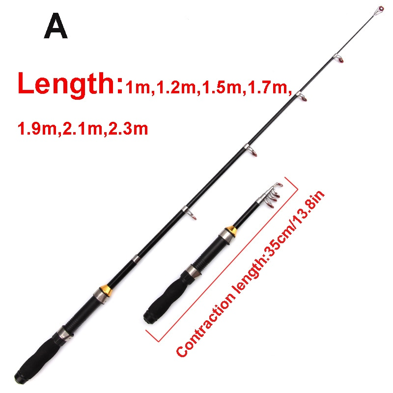 Outdoor fishing portable mini sea rod 2.3 meters 2.1 meters fishing rod fishing gear throwing rod pocket fishing rod S7B0648 enlarge