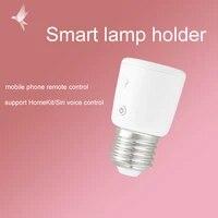 Xiaoyan     support de lampe intelligent pour maison connectee  compatible avec homekit  commande vocale  telephone portable  telecommande  vis e27