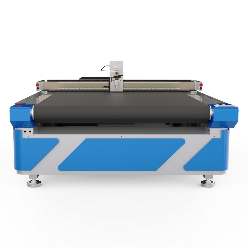 Fast Speed Riuda Control Automatic Feed Typesetting Cnc 1625 Oscillating Knife Cutting Machinery For Leather Blanket