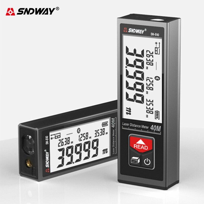Medidor de distancia láser SNDWAY, telémetro electrónico de Cinta Digital, cinta de...