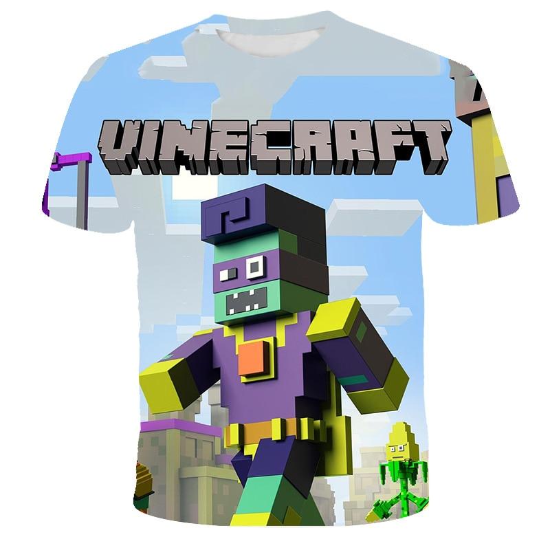 Camiseta de manga corta con estampado 3D de mi mundo para niños...