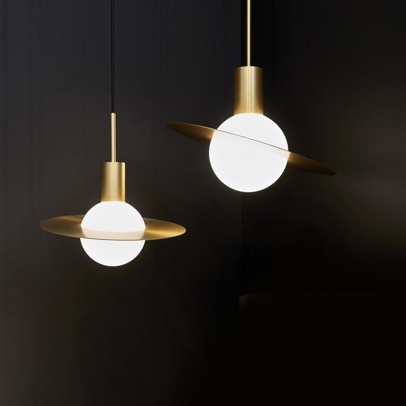 Modern Style Living Room Bedroom Minimalist Restaurant Pendant Light Nordic Clothing Decoration Glass Ball Pendant Lamp Bed