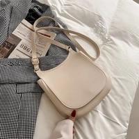 vintage simplicity pu leather solid flip crossbody bags for women 2021 travel shoulder bags ladies large capacity messenger bag