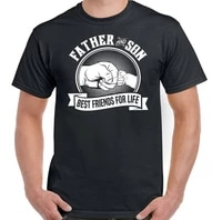 father son t shirt best friends for life mens funny fathers day