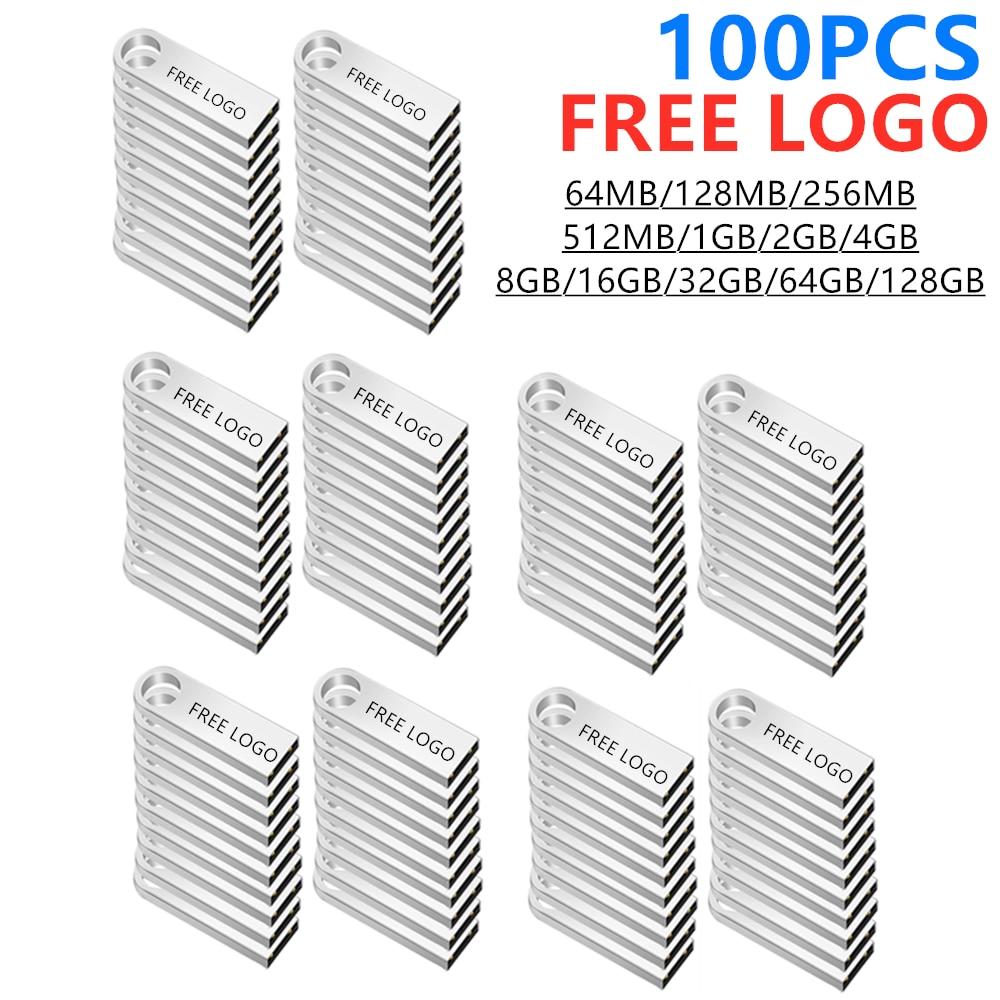 100pcs/lot Free logo pen drive 32GB pendrive meta usb flash drive 64GB flash memory stick 16GB Key usb 2.0 stick 1G 128M 8GB 4GB