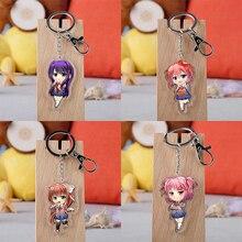 Spiel Doki Doki Literatur Club Cosplay Prop Sayori Yuri Natsuki Monika keychain Zubehör Acryl schlüssel ring