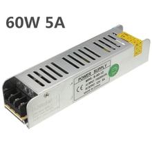 60W cc 12V 5A pequeño volumen salida única fuente de alimentación de conmutación tira LED luz de visualización fuente de alimentación Mini AC85-265V de alimentación