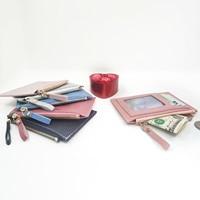 Для женщин кредитных карт ID карты мульти-слот Держатель для карт Для женщин PU маленький кошелек для кредитных карт чехол карман банк держат...