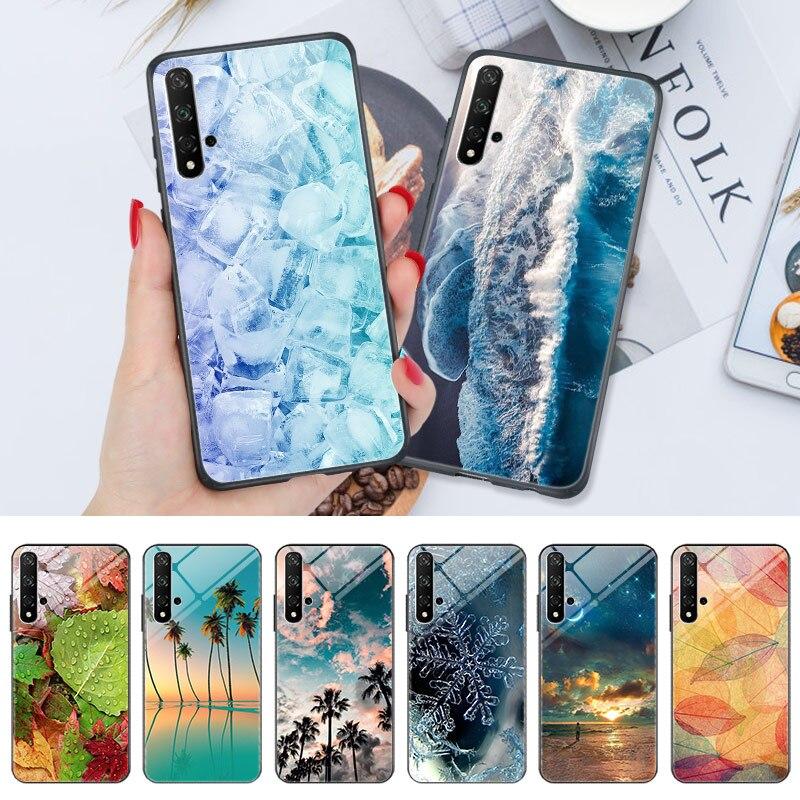 Mar playa Honor 9X Premium 8X 8A 8C 8 DE CASO caso de teléfono de la contraportada para Huawei Honor 20 PRO 20S 20 10i 10 Lite 9 7A PRO 7C brillante