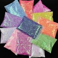 1bag50gchameleon chunky glitter sequins sparkly nail art decoration laser manicure nail sequins flakes slices powder md76
