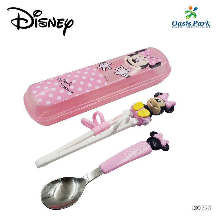 original disney criancas conjunto de utensilios de mesa portatil 304 colher de aco