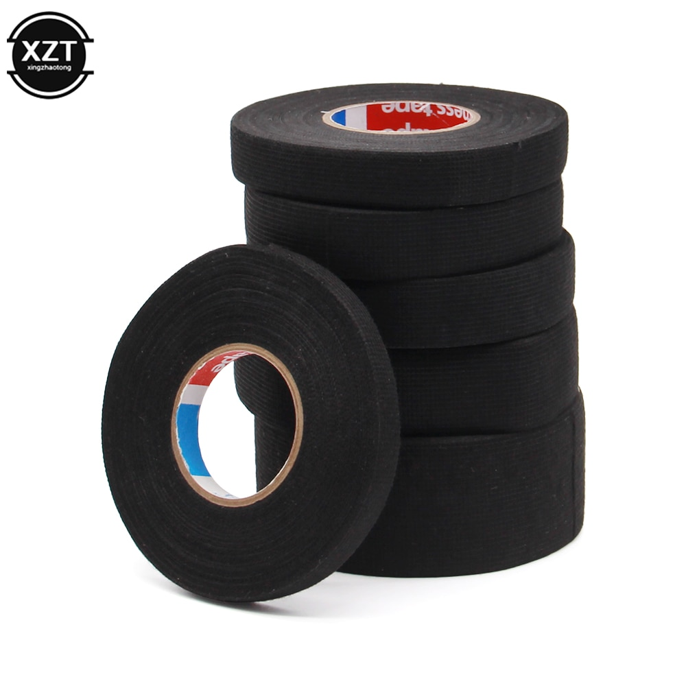Heat-resistant Adhesive Cloth Fabric Tape For Car Auto Cable Harness Wiring Loom Protection Width 9/