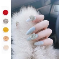 20 pieces of acrylic resin sweater pattern buckle small fresh red love circle net red japanese 3d diy nail decoration