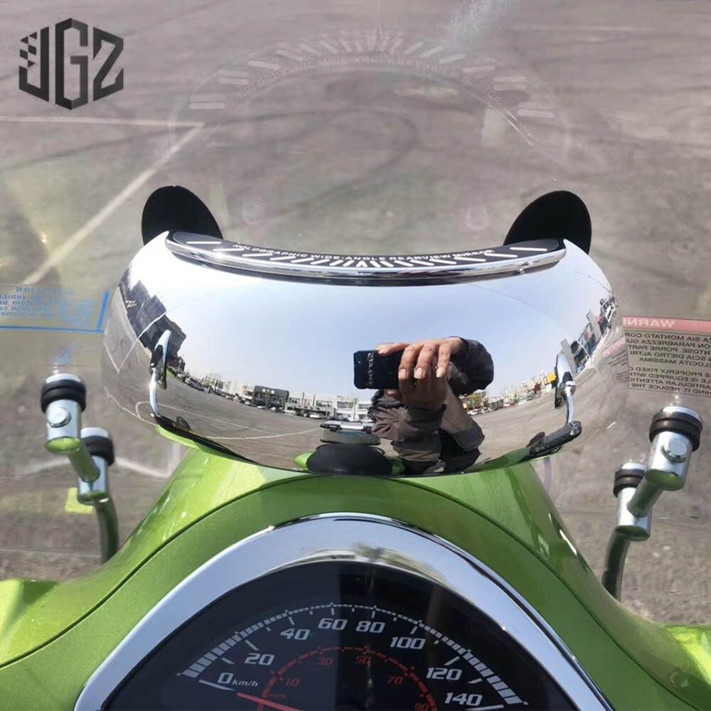 Espejos retrovisores para parabrisas de motocicleta 180 espejo gran angular para Vespa GTS Sprint 150 LX Primavera 300 250 125 200 Accesorios
