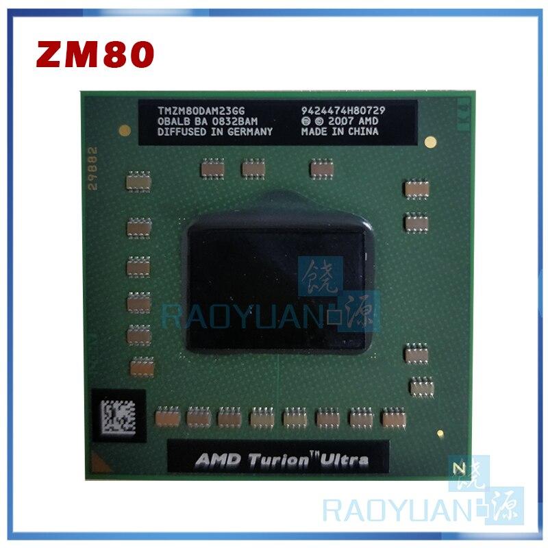 AMD Turion X2 Ultra ZM-80 ZM 80 ZM80 2,1 GHz Dual-Core Dual-Hilo de procesador de CPU 32W TMZM80DAM23GG hembra S1