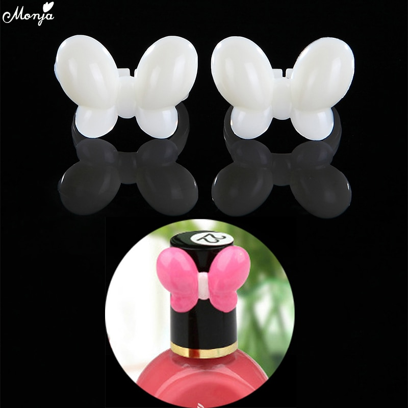 Monja 50Pcs Nail Art UV Gel Polish Varnish Color Display Butterfly Fake Ring Coloring Showing Trainning False Nail Manicure Tool