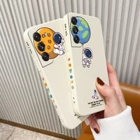 flying astronaut phone case for samsung galaxy s21 s20 fe s10 note 20 10 ultra plus a72 a52 a42 a32 a71 a51 a41 a31 a21s cover