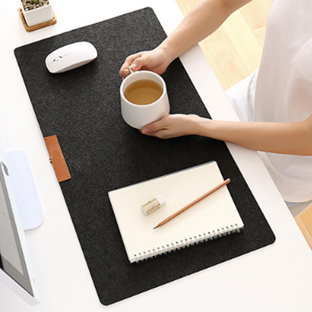 Gran oficina alfombrilla para escritorio de ordenador de mesa moderna teclado ratón de fieltro de lana cojín para ordenador portátil de escritorio alfombrilla de ratón para jugador Mousepad alfombrilla 700*330mm
