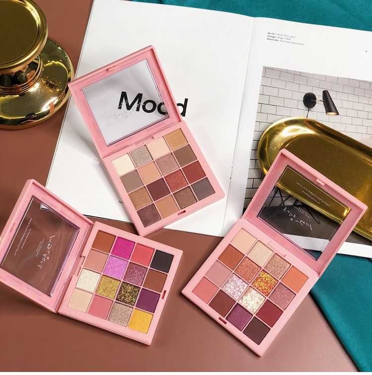 16 paleta de sombra de olho de cor fosco natural maquiagem palete shimmer glitter pigmento metálico feminino beleza sombra em pó pallete