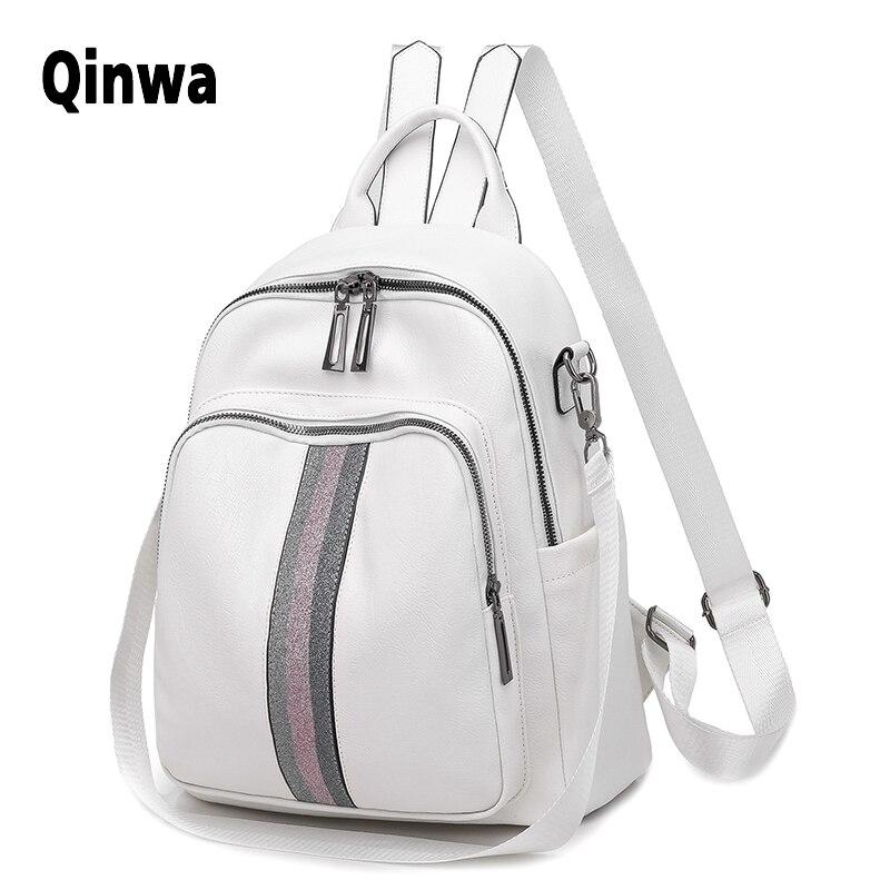 Брендовый роскошный рюкзак с лентой, новинка 2019, искусственная кожа, водонепроницаемая сумка, студенческий стиль, сумка для молодых студент...