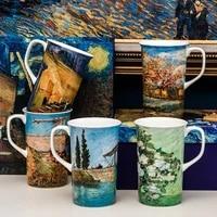 van goghs large capacity bone china mug couple ceramic mug with lid spoon gift cup ceramic mug coffee mug coffee cups