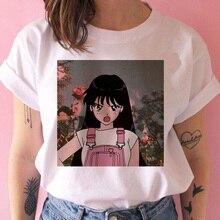 T-shirt marin lune femmes graphique ulzzang harajuku t-shirt décontracté femme ulzzang japonais kawaii t-shirt haut t-shirt drôle