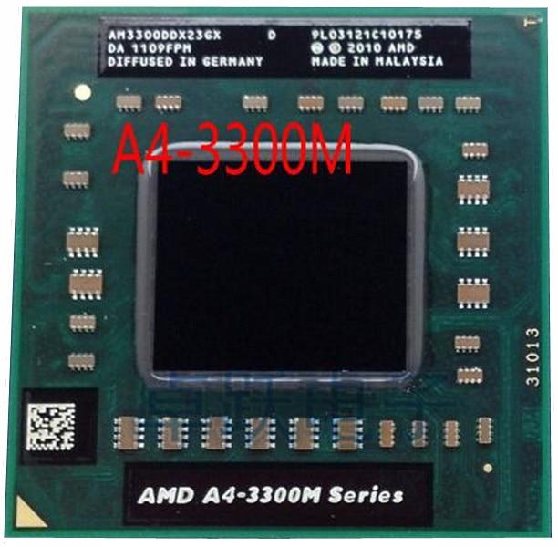 Original para amd planform A4-3300M processador 2mb l2 cache 1.90 ghz soquete fs1 pga722 (am3300ddx23gx a4 3300m 35w cpu portátil