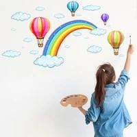 Papier peint de decoration arc-en-ciel   Autocollants muraux mignons Style deco artistique  ballon soleil  autocollants etanches