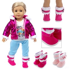 Doll clothes,doll accessories, Purple Pink doll shoes for 18