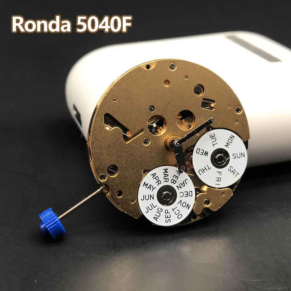Ronda 5040F Quartz Chronograph Watch Movement Swiss Made Original Watch Parts With Battery Watch Accessories