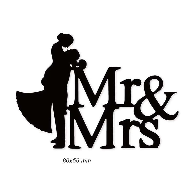 Штампы Mr & Mrs для скрапбукинга, декорации фотоальбомов, трафарет для изготовления открыток