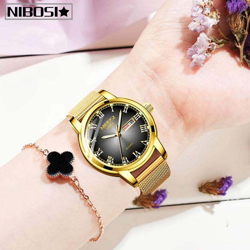 NIBOSI Fashion Womens Watches Top Brand Luxury Waterproof Watch Ladies Ultra-Thin Casual Wrist Watch Quartz Clock Reloj Hombre enlarge