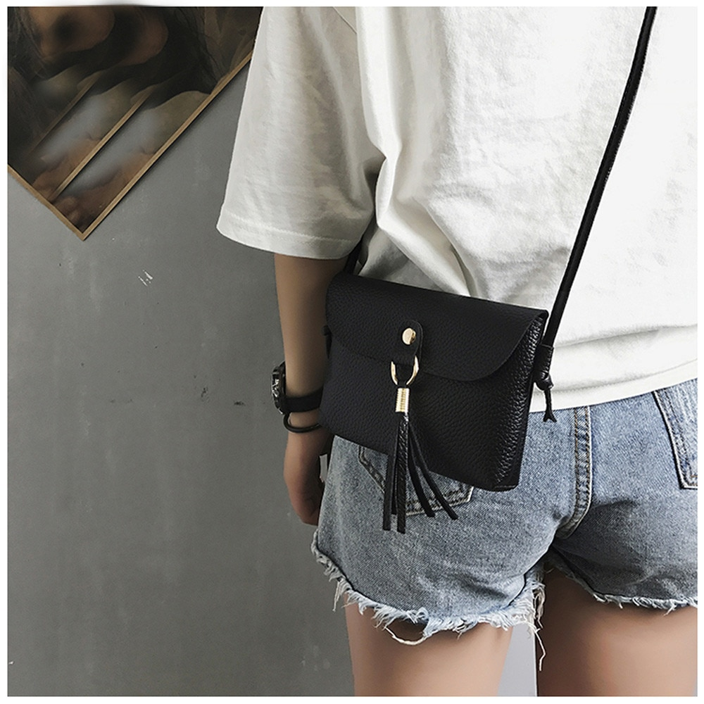 Moda able çanta Vintage çanta küçük Mini Messenger püskül omuz çantaları BK