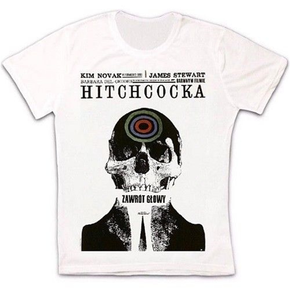 Alfred hitchcock vertigo filme poster retro vintage hipster unisex t camisa 973 moda estilo clássico camiseta