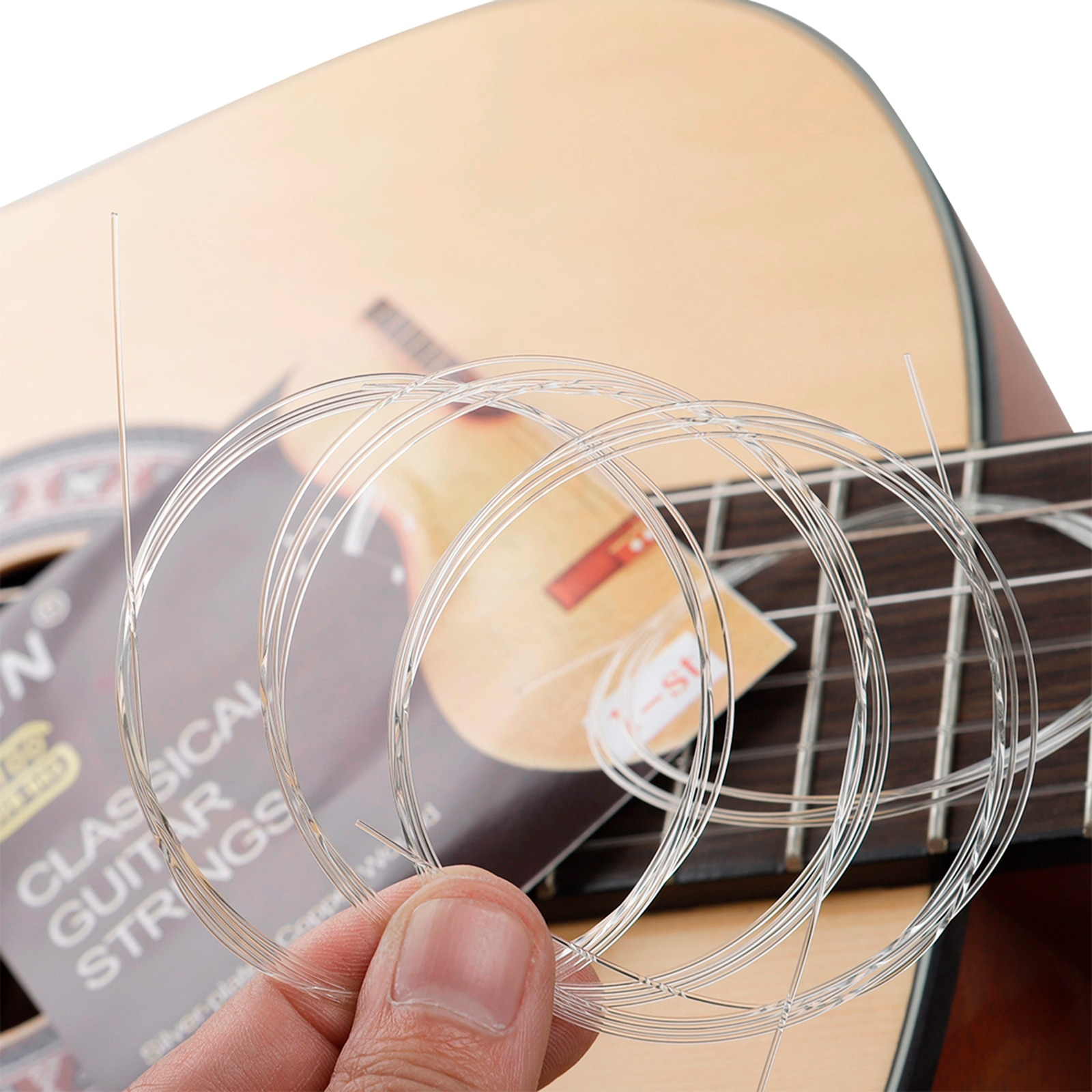 100Pc Classical Guitar Professional Nickel Copper Wound Nylon String E-1st Luthier for Classic Guitar enlarge