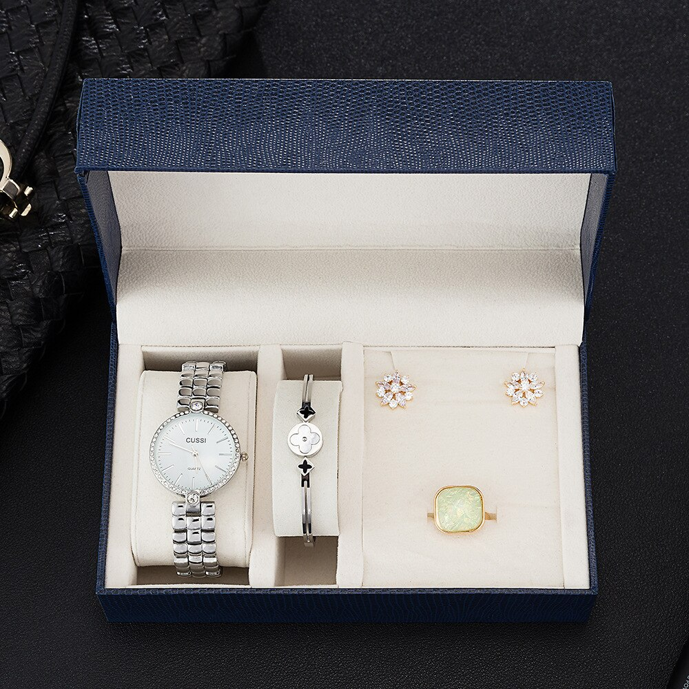 WOMEN'S Gift Set Beautifully Packaged Watch + Bracelet Set Heat-Creative Combination Set Sales with Free Shipping Clearance Sale