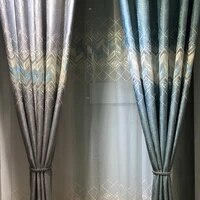 all match new modern decoration curtains embroidered shading balcony living room bedroom curtain screens