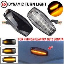 2 шт. автомобильный светильник s для Hyundai Sonata (EF B) 2002 2005 светодиодный динамический сигнал поворота светильник боковина крыла маркер последовательного мигалки лампы