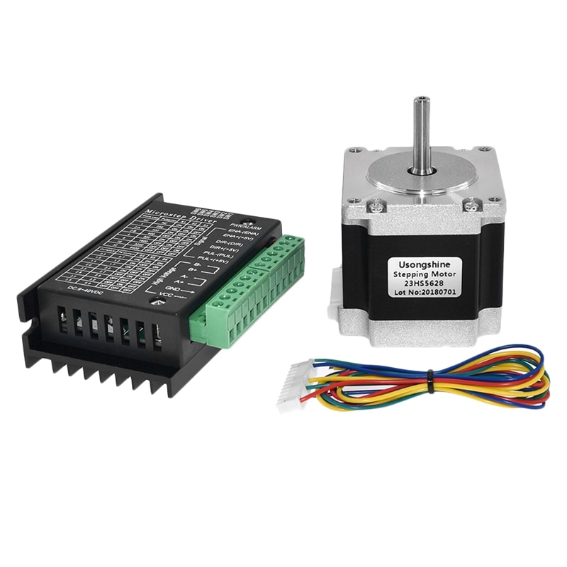 Nema 23 23HS5628 Stepper Motor 57 Motor 2.8A with TB6600 Stepper Motor Driver NEMA17 23 for CNC and 3D Printer Part Parts(8.0MM)