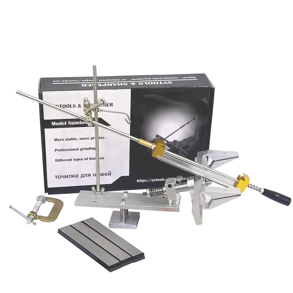 سكين احترافي مبراة مع نظام شحذ حجر المشحذ الماسي 360 درجة آلية دوارة-sytool K6