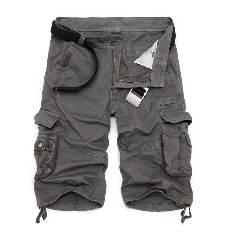 Мужские шорты-карго в стиле милитари, 2021 новые армейские камуфляжные тактические шорты, мужские хлопковые свободные рабочие Повседневные Ш...