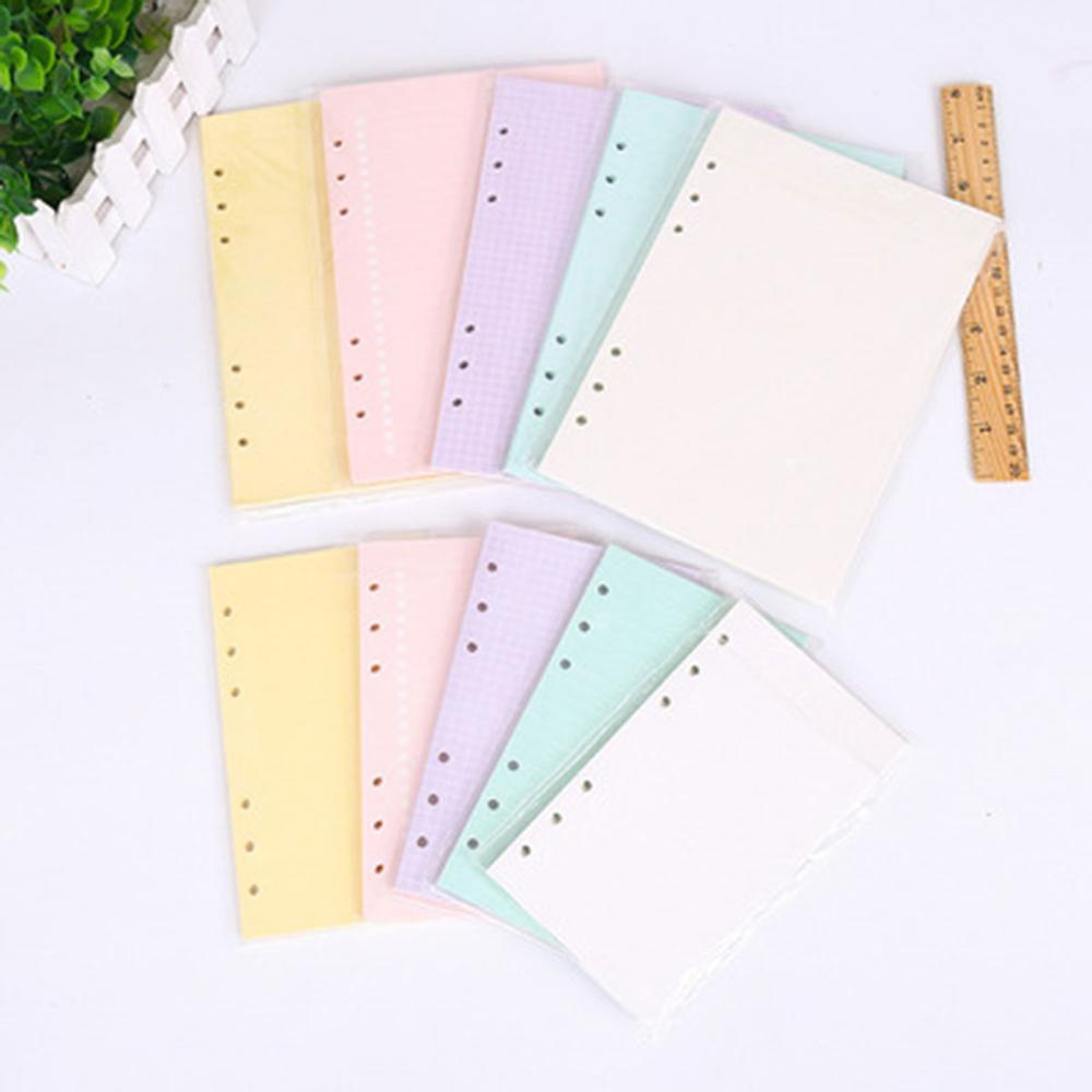 Coloffice A5 A6 6 Holes Loose-leaf Notebook Inner Page Candy Color Diary Blank/ To do /Horizontal Line / Grid 45 Sheets