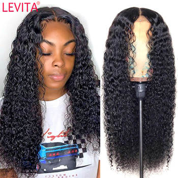 LEVITA 28 30 inch long afro kinky curly human hair wig 4×4 lace closure wig Brazilian lace front human hair Wigs for black women