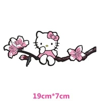 19cm7cm flower branch kt pink cartoon lovely car stickers creative decoration decals auto tuning styling