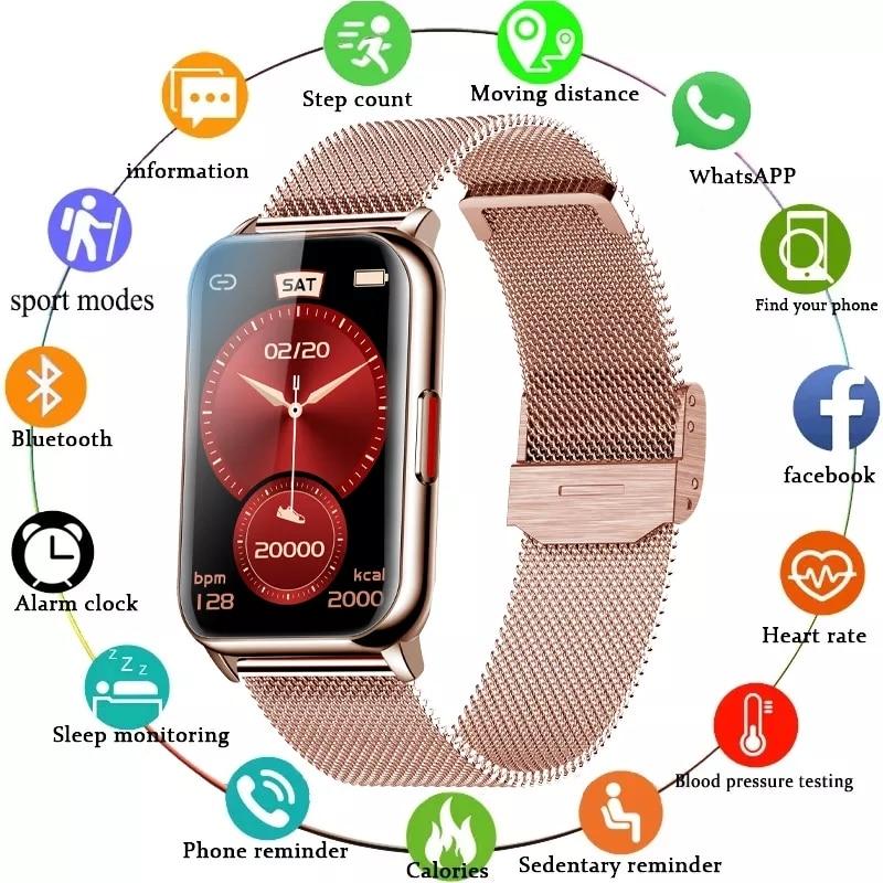 الذكية الفرقة 6 ساعة اللياقة البدنية تعقب سوار مقاوم للماء Smartwatch رصد معدل ضربات القلب الدم الأكسجين شاشة OLED لهواوي شاومي