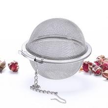 5 גודל נירוסטה תה Infuser כדור ספייס נעילת תה כדור מסננת הרשת Infuser תה מסנן מסנן מטבח אבזרים