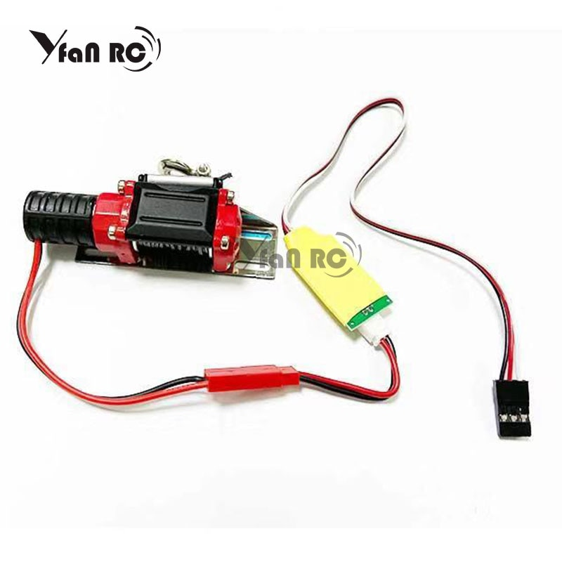 Automatic Winch and Wireless Remote Controller Receiver for 1/10 RC Crawler Car Axial SCX10 Trx-4 TRX4 D90 TF2 Tamiya CC01 90046