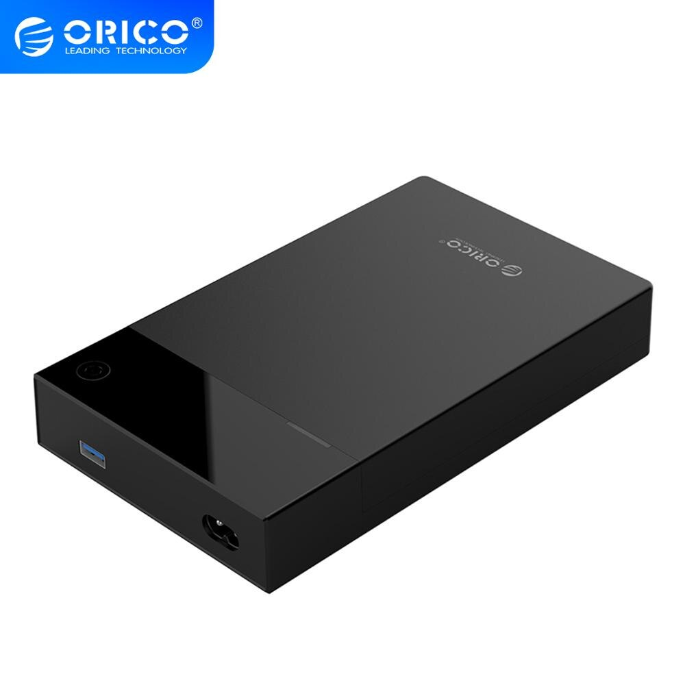 ORICO 3.5 HDD Case Bulit-in Power 12V Portable SATA to USB3.0 Hard Drive Enclosure Support 12TB 3.5'' HDD SSD UASP For PC TV PS4