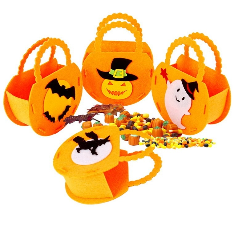 Children's Cartoon Tote Bag Halloween Non-woven Bag Kids Gift Party Supplies Holiday Gift Wholesale